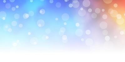 ljusblå, gul vektorbakgrund med cirklar. vektor