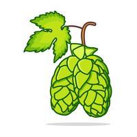 flat hop plantillustration vektor