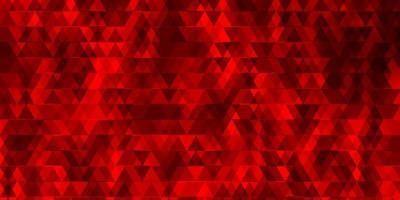 ljusröd vektormall med linjer, trianglar.