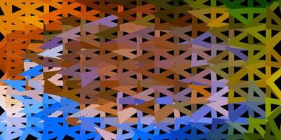 ljusblå, gul vektor poly triangel mall.