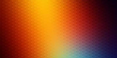dunkles mehrfarbiges Vektorlayout mit Linien, Rechtecken.
