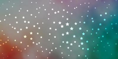 dunkelgrünes, rotes Vektormuster mit abstrakten Sternen.
