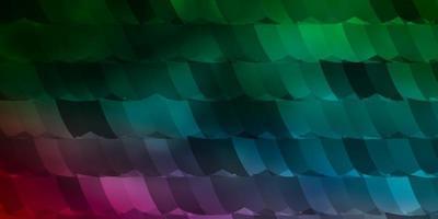 hellgrüner, roter Vektorhintergrund mit Satz von Sechsecken.