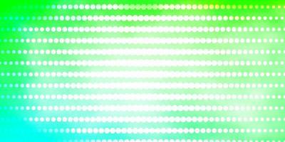 hellgrünes Vektorlayout mit Kreisen.