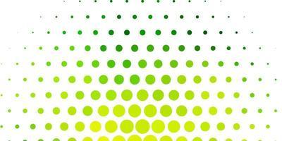 hellgrünes, gelbes Vektorlayout mit Kreisformen. vektor