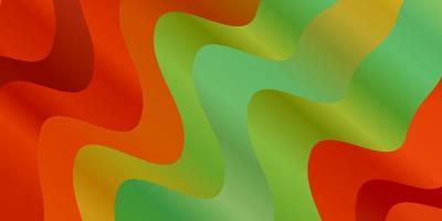 hellgrünes, gelbes Vektormuster mit Linien. vektor