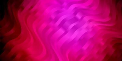 dunkelrosa Vektorhintergrund mit gebogenen Linien.