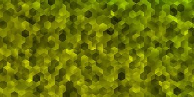 ljusgrön, gul vektormall i sexkantig stil. vektor