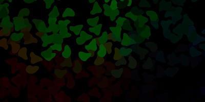 dunkelgrüne Vektorschablone mit abstrakten Formen.