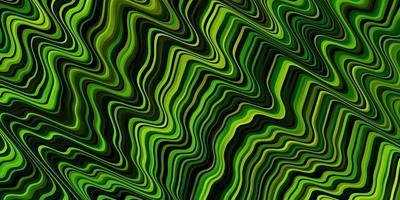 hellgrünes, gelbes Vektormuster mit Kurven.