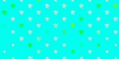 hellgrüne Vektorbeschaffenheit mit Krankheitssymbolen.