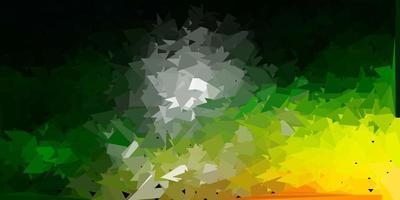 mörkgrön, röd vektor triangel mosaik tapet.