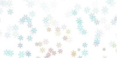 leichte mehrfarbige Vektor abstrakte Schablone mit Blättern.