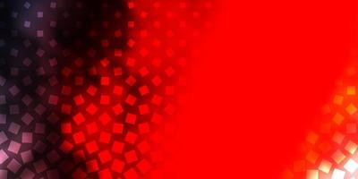 mörk orange vektor mönster i fyrkantig stil.