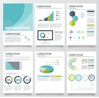 Datenvisualisierung Vektor Vorlage