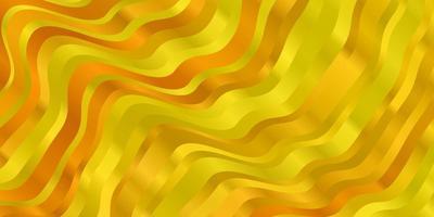 ljus gul vektor bakgrund med böjda linjer.