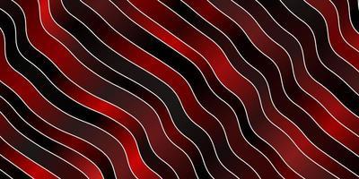 dunkelroter Vektorhintergrund mit gebogenen Linien.