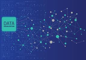 Daten grafische Visualisierung. Big Data Analytics Visualisierung mit Linien, Punkten und Pfeilelementen