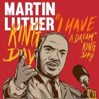Martin Luther kung dag affisch illustration vektor