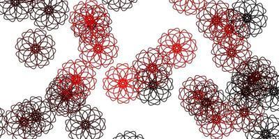 helle rote Vektor natürliche Grafik mit Blumen.