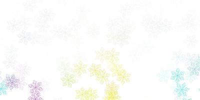 ljus flerfärgad vektor doodle mönster med blommor.