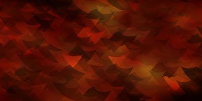 mörk orange vektor bakgrund med trianglar, kuber.