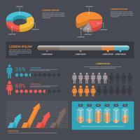 Datenvisualisierungs-Vektor-Elemente
