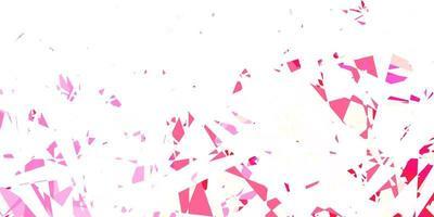 ljusrött vektormönster med månghörniga former. vektor