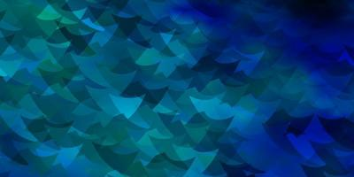 mörkblå vektormönster med polygonal stil med kuber.