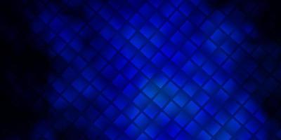 mörkblå vektorbakgrund med rektanglar.
