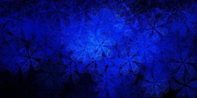 mörkblå vektorbakgrund med bubblor.