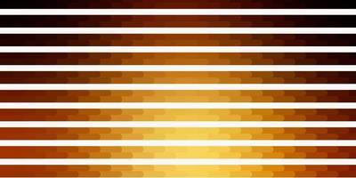 mörk gul vektor bakgrund med linjer.