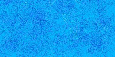 hellblaues Vektorlayout mit Dreiecksformen.