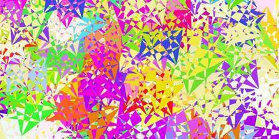 ljus flerfärgad vektorlayout med triangelformer.