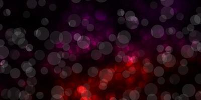 dunkelviolettes Vektorlayout mit Kreisformen.