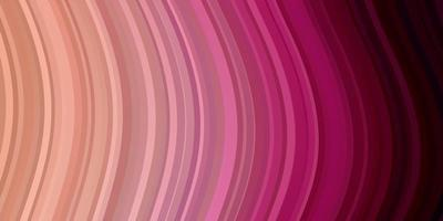 hellrosa Vektorhintergrund mit gebogenen Linien.