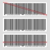 Barcode-Vektor-Design-Illustration lokalisiert auf grauem Hintergrund vektor