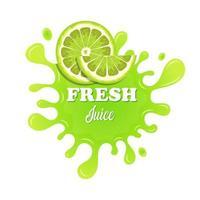 Fruchtsaft spritzt Vektor-Design-Illustration lokalisiert auf weißem Hintergrund