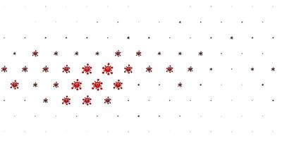 ljusröd vektorstruktur med sjukdomssymboler.