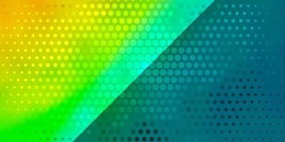 ljusblå, gul vektorbakgrund med cirklar.
