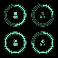 Stunden-Zeitgeber-Vektorentwurfsillustration lokalisiert auf Hintergrund vektor