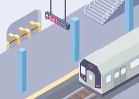 Isometrische New Yorker U-Bahn vektor