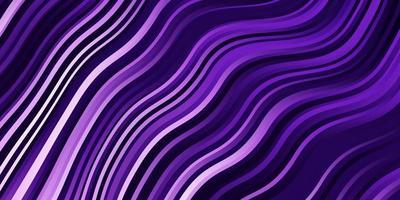 ljuslila vektorbakgrund med böjda linjer.