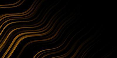 mörk gul vektor layout med kurvor.