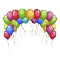 farbige Ballons Vektor-Design-Illustration lokalisiert auf weißem Hintergrund vektor