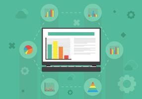 Datenvisualisierung Hintergrund Illustration