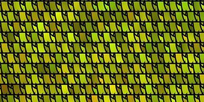 ljusgrönt, gult vektormönster med polygonal stil. vektor