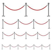 Barriere Seil Vektor Design Illustration lokalisiert auf weißem Hintergrund