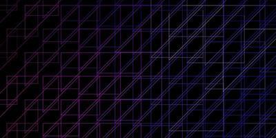 dunkelviolettes, rosa Vektorlayout mit Linien.