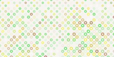 mörk flerfärgad bakgrund med virussymboler.